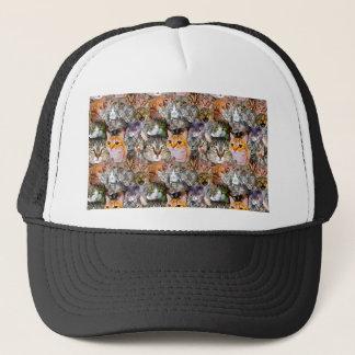 Pattern Cats Trucker Hat