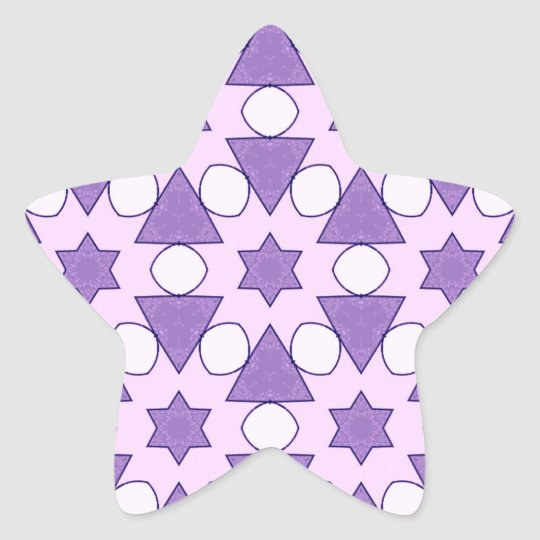 Pattern CHRIS,pink Star Sticker