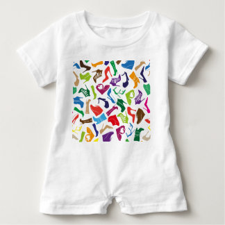 Pattern colorful Women's shoes Baby Romper