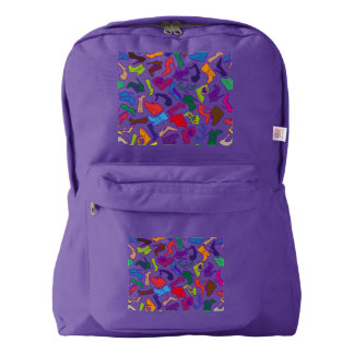 Pattern colorful Women's shoes Backpack