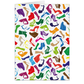 Pattern colorful Women's shoes Card