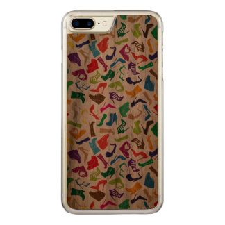 Pattern colorful Women's shoes Carved iPhone 7 Plus Case