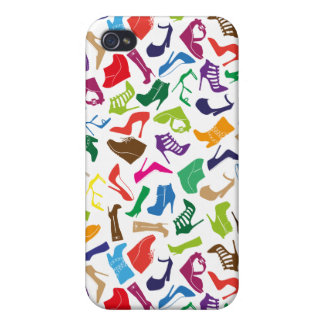 Pattern colorful Women's shoes Cover For iPhone 4