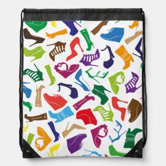 Pattern colorful Women's shoes Drawstring Bag