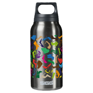 Pattern colorful Women's shoes Insulated Water Bottle
