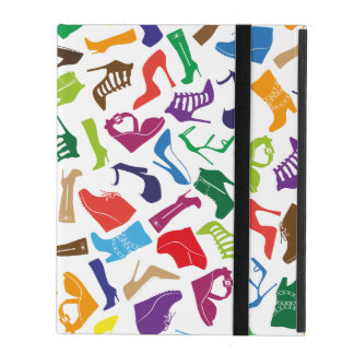 Pattern colorful Women's shoes iPad Cover