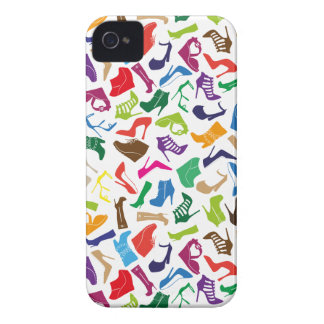 Pattern colorful Women's shoes iPhone 4 Cover
