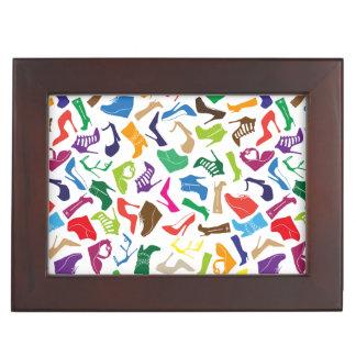 Pattern colorful Women's shoes Keepsake Box