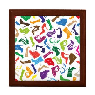 Pattern colorful Women's shoes Keepsake Boxes