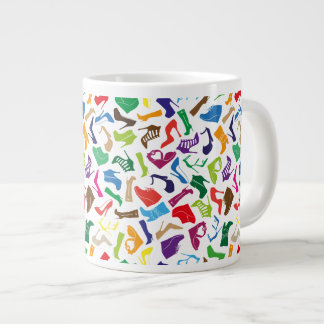 Pattern colorful Women's shoes Large Coffee Mug