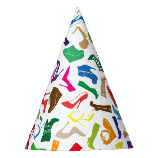 Pattern colorful Women's shoes Party Hat