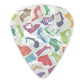 Pattern colorful Women's shoes Pearl Celluloid Guitar Pick