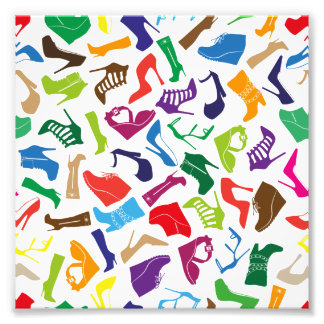 Pattern colorful Women's shoes Photo Print