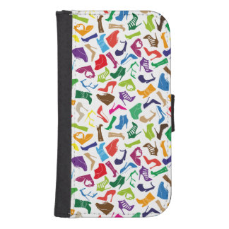 Pattern colorful Women's shoes Samsung S4 Wallet Case