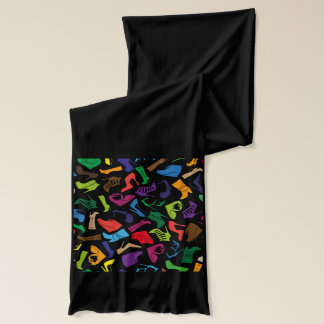 Pattern colorful Women's shoes Scarf