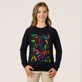 Pattern colorful Women's shoes Sweatshirt