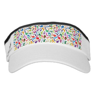 Pattern colorful Women's shoes Visor