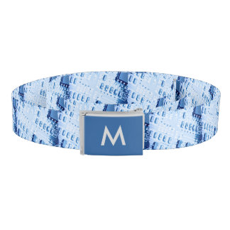 Pattern Created with a Blue Motherboard Monogram