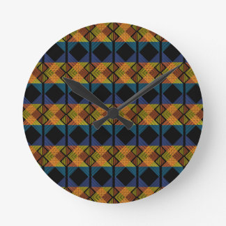 Pattern D Round Clock