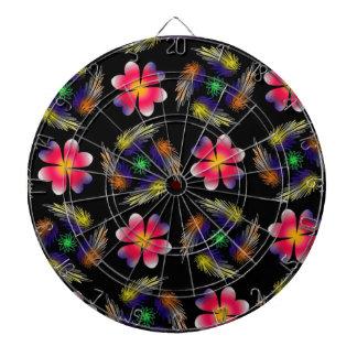 Pattern Design Dartboard With Darts