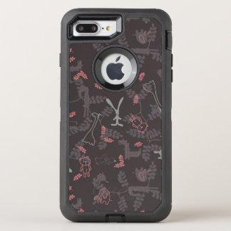 pattern displaying baby animals 1 OtterBox defender iPhone 8 plus/7 plus case