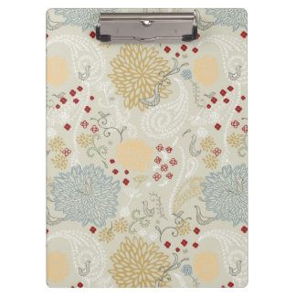 pattern displaying curly garden clipboard