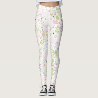 pattern displaying floral leggings