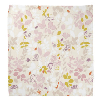 pattern displaying whimsical animals bandana