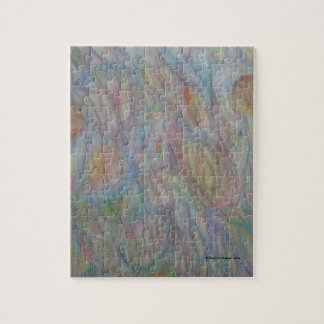 Pattern drawn with color pencil with mixed color jigsaw puzzle
