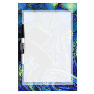 PATTERN DRYERASE BOARD BLUE ABSTRACT ART BOARD Dry-Erase WHITEBOARDS