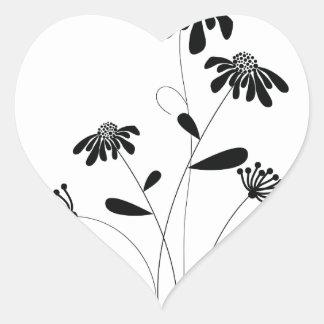 Pattern E Heart Sticker