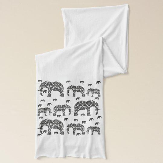 Pattern Elephants Designer Scarf Wrap