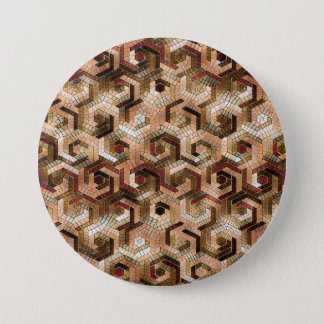 Pattern Factory 23 brown 3 Inch Round Button