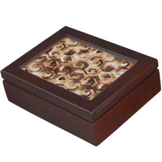 Pattern Factory 23 brown Keepsake Box