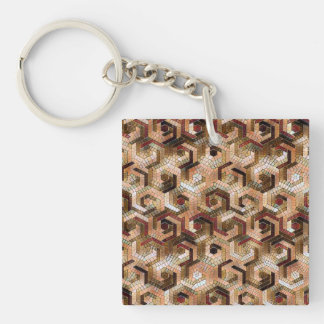 Pattern Factory 23 brown Keychain
