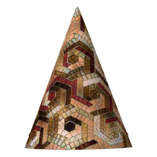 Pattern Factory 23 brown Party Hat