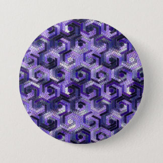 Pattern Factory 23 putple 3 Inch Round Button
