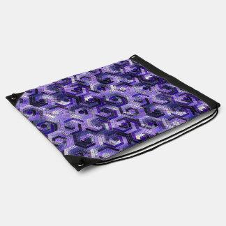 Pattern Factory 23 putple Drawstring Bag