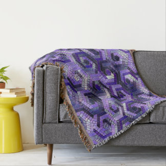 Pattern Factory 23 putple Throw Blanket