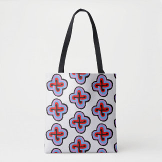 pattern fortune star tote bag