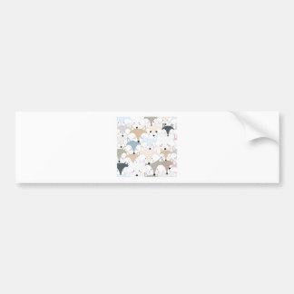 Pattern foxy comic cartoon bumper sticker