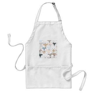 Pattern foxy comic cartoon standard apron