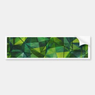 pattern green bumper sticker