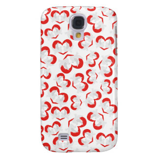 Pattern illustration peace doves with heart