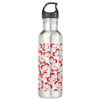 Pattern illustration peace doves with heart 710 ml water bottle