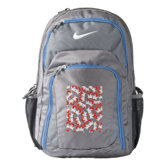 Pattern illustration peace doves with heart backpack
