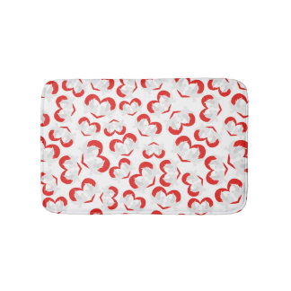 Pattern illustration peace doves with heart bath mat