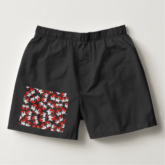 Pattern illustration peace doves with heart boxers