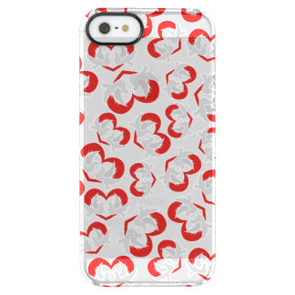 Pattern illustration peace doves with heart clear iPhone SE/5/5s case