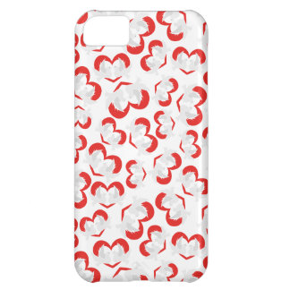 Pattern illustration peace doves with heart cover for iPhone 5C